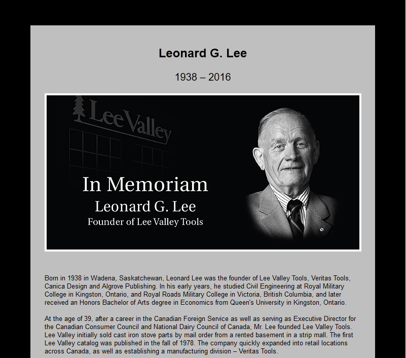 Leonard Lee obituary
