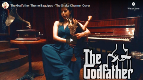 """The Godfather Theme"""" Bagpipes – The Snake Charmer Cover"""